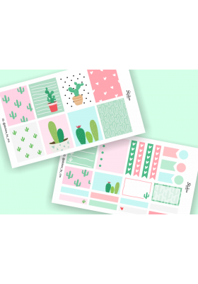 Cactus Mini Sticker Kit