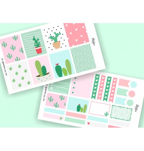 Cactus Mini Sticker Kit