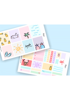 Summer / Beach Mini Sticker Kit