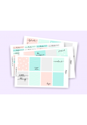 Geometric Pastel Weekly Sticker Kit