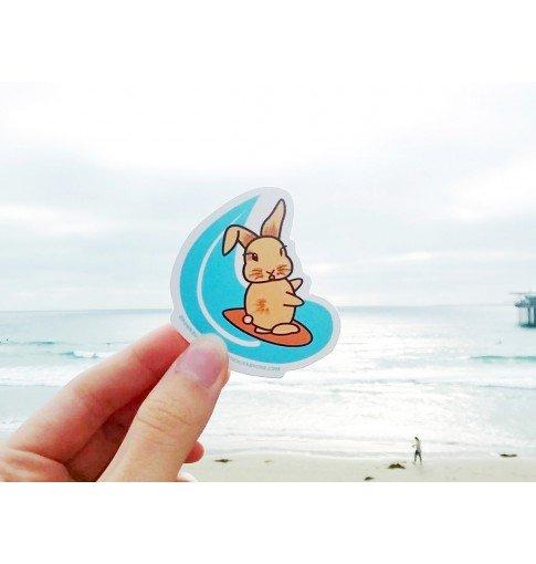 Surfing Brown Sugar Die Cut Sticker