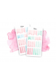 Pink and Blue Watercolor Page Flag Stickers