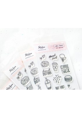 Coffee + Dessert Clear Stamps