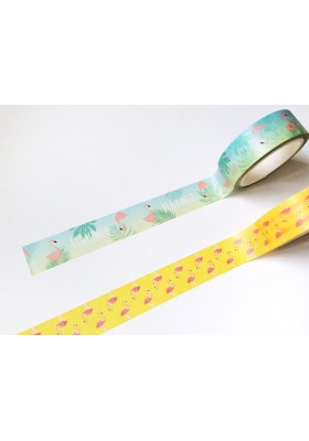 2pk Flamingo Washi Tape
