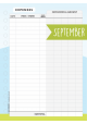 Expense Tracker Page - September 2018
