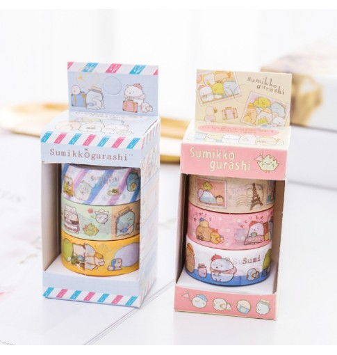 3pk Sumikko Gurashi Washi Tapes