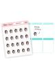 Assorted Sarah Stickers (brunette)