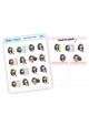 Assorted Sasha Stickers (dark skin tone)
