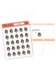 Assorted Sandra Stickers (black hair)