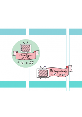 TV Badge / Ribbon Stickers