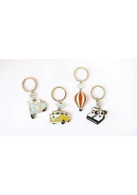 Vintage Style Enamel Keychain