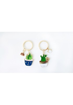 Cactus Enamel Keychain