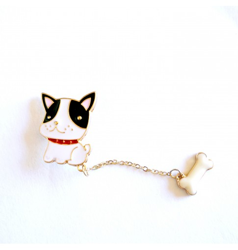 Dog & Bone Enamel Pin