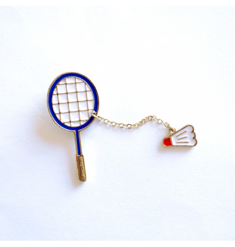 Badminton & Shuttlecock Enamel Pin