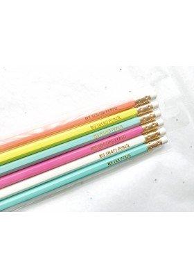 6pk Goil Foil Stamped Pencils (Target Spot)
