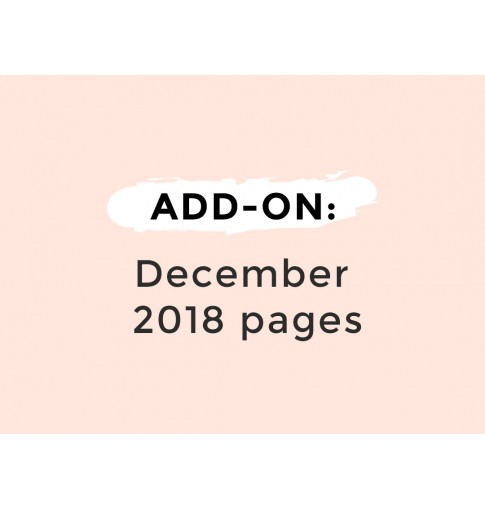 ADD-ON: Dec 2018 pages only (8 sheets)