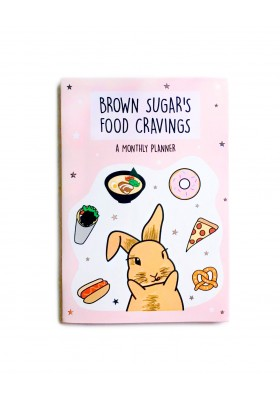 """Brown Sugar's Food Cravings"" Mini Monthly Planner (Undated)"