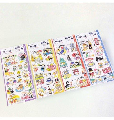 Shiba Inu Travel Stickers